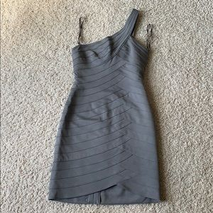 BCBG bodycon bandage one shoulder dress